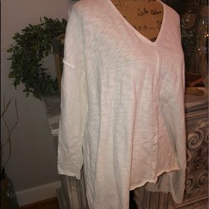 Forever 21 cream color long sleeve top
